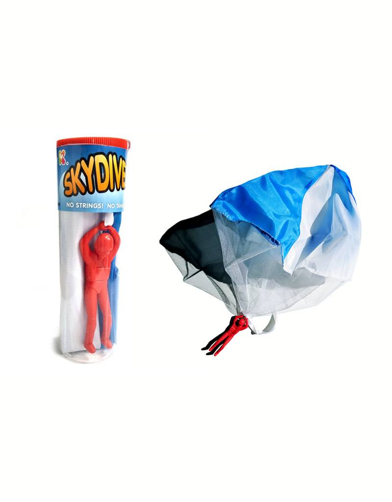 Skydiver with Tangle Free Parachute
