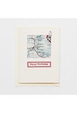 Escape and Evade Map Happy Birthday Card