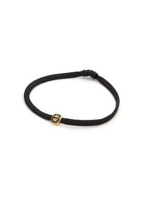 Factory Store Bracelet noir - Pierres noires
