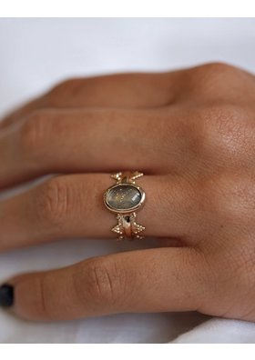 Factory Store Blue Pearl Ring