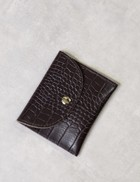 Factory Store Brown Card Holder