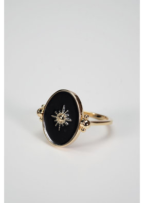 Factory Store Black Star ring