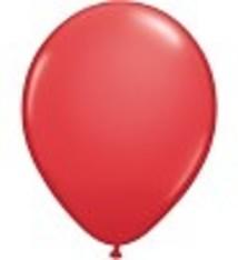 """100 metallic ballonnen 12"""" rood"""