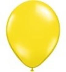"""100 metallic ballonnen 12"""" geel"""