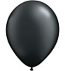 """100 metallic ballonnen 12 """" zwart"""