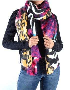 Panter/ zebra sjaal