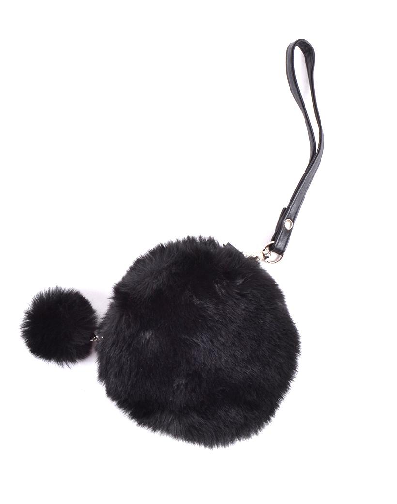 Portemonnee rond faux fur