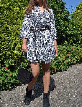 Black white jurk