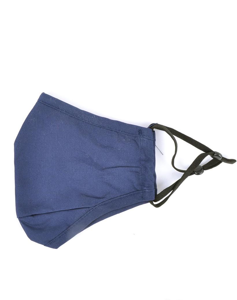Mondkapje donkerblauw verstelbaar