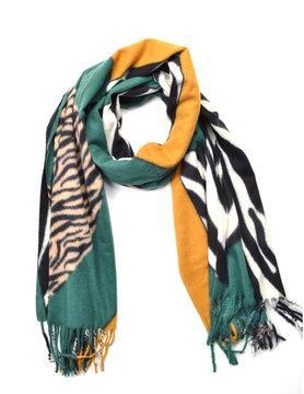 Zebra sjaal Groen