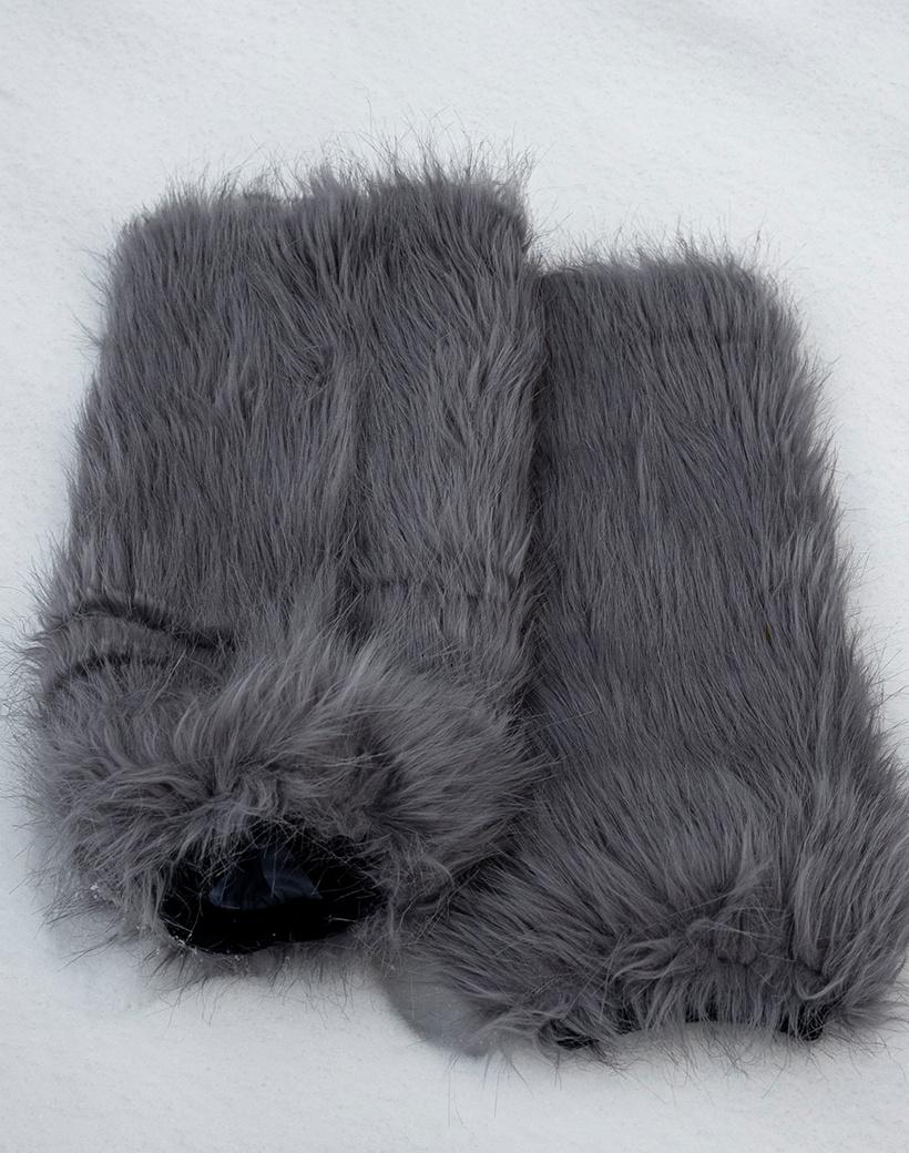Beenwarmers faux fur