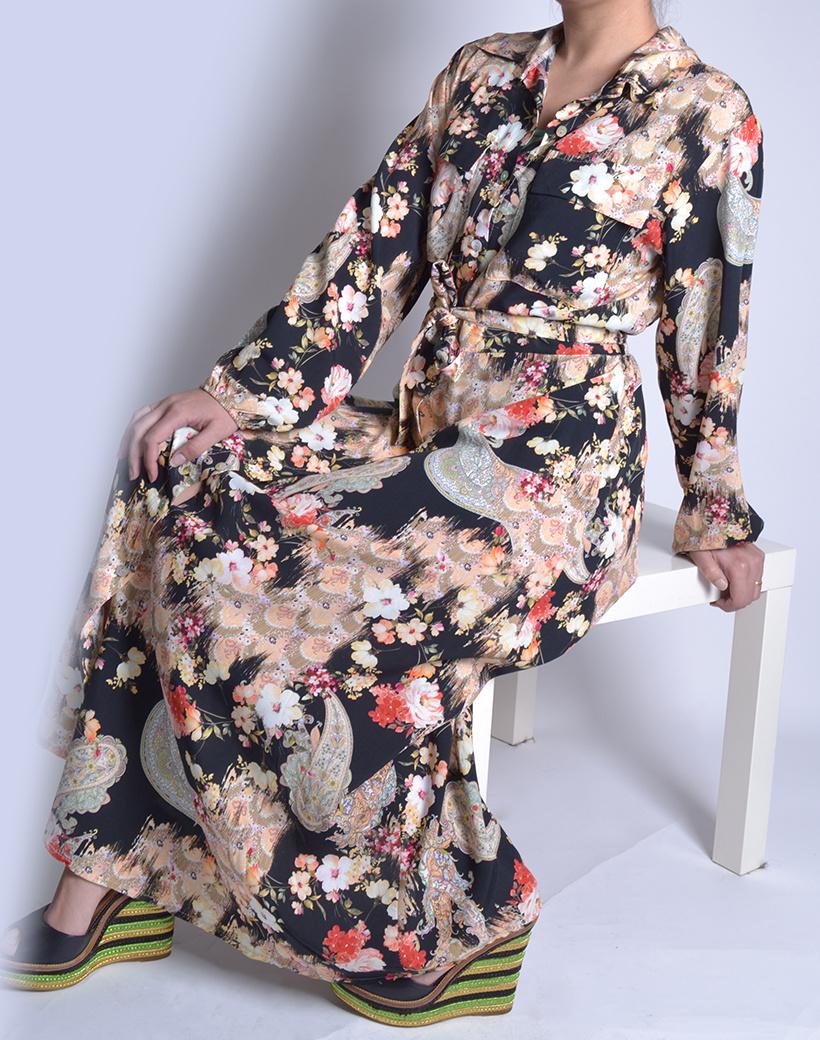 Floral long jurk