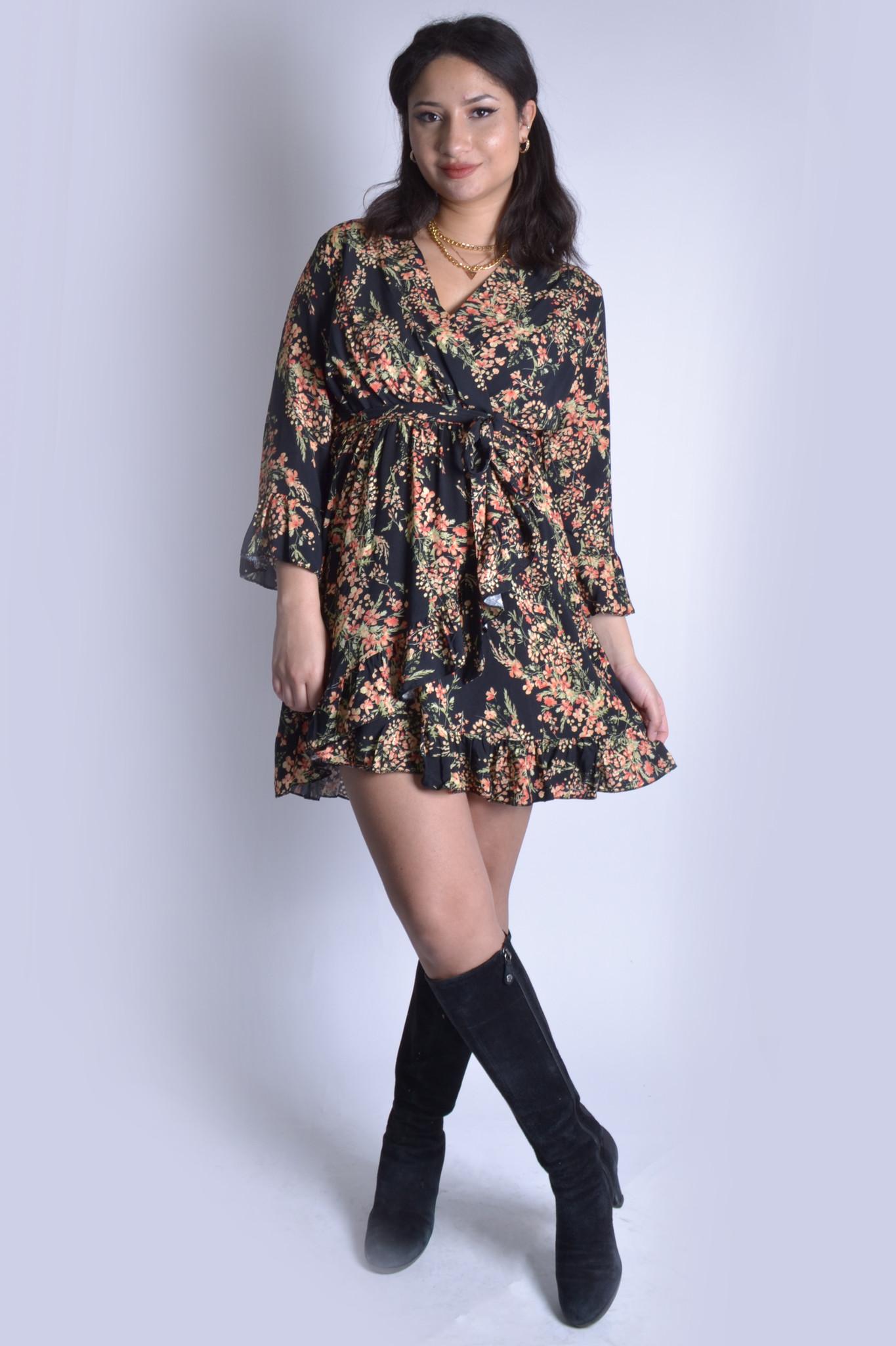 Floral jurk