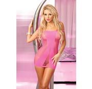 Pink Lipstick Lingerie Roze naadloos visnet jurkje