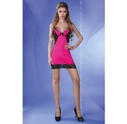 Livia Corsetti Fashion Negligé Jessie - Roze/Zwart