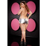 Lapdance Lingerie Twerk It Short - Plus Size - Zilver