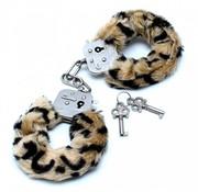 Rimba Politie Handboeien met bond in luipaard print