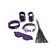 Rimba RIMBA - Velcro Soft Bondage Starter Set Purple (6-Pieces)