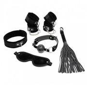 Rimba Soft bondage starter set zwart met klittenband (6-delig)