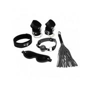 Rimba RIMBA - Soft bondage starter set zwart met klittenband (6-delig)