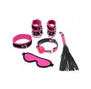 Rimba Soft bondage starter set roze met klittenband (6-delig)