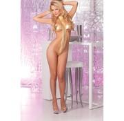 Pink Lipstick Lingerie Gold standard T-strap bodysuit