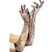 Fever Handschoenen Met Spinnenwebprint
