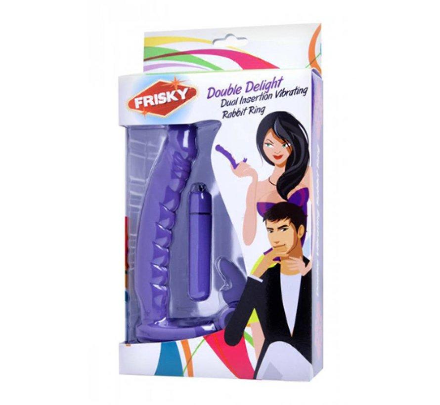 Double Delight Vibrerende Penisring Met Vibrator