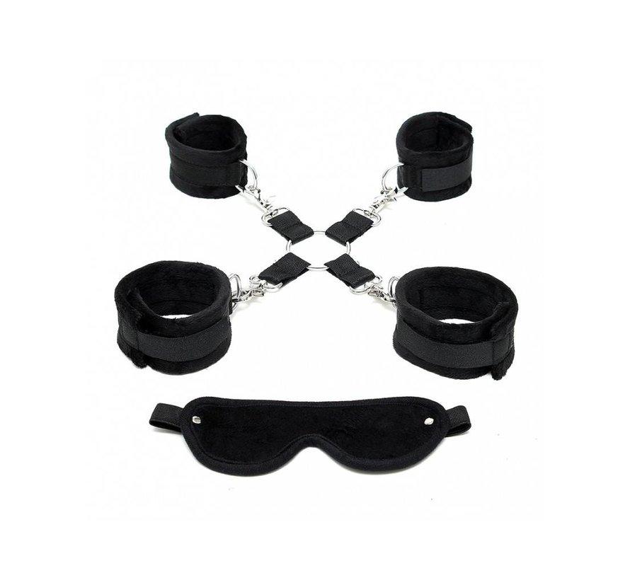 Rimba - Soft bondage set met zwart klittenband