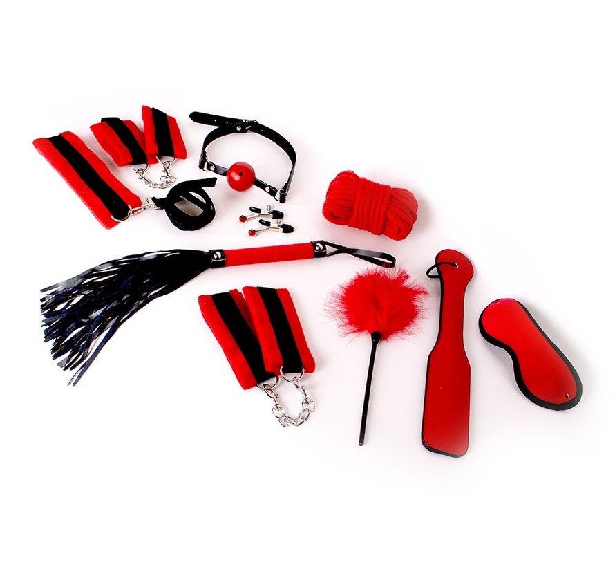 BDSM Starters Kit met 10 items