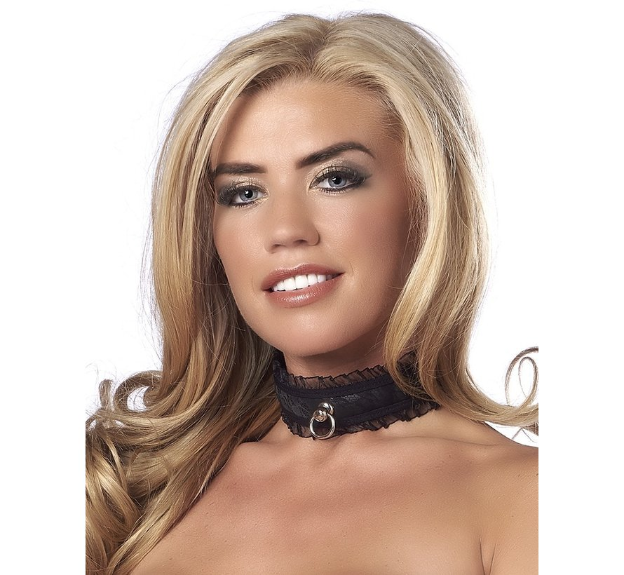 Rimba - Halsband Satin Look Collar Zwart