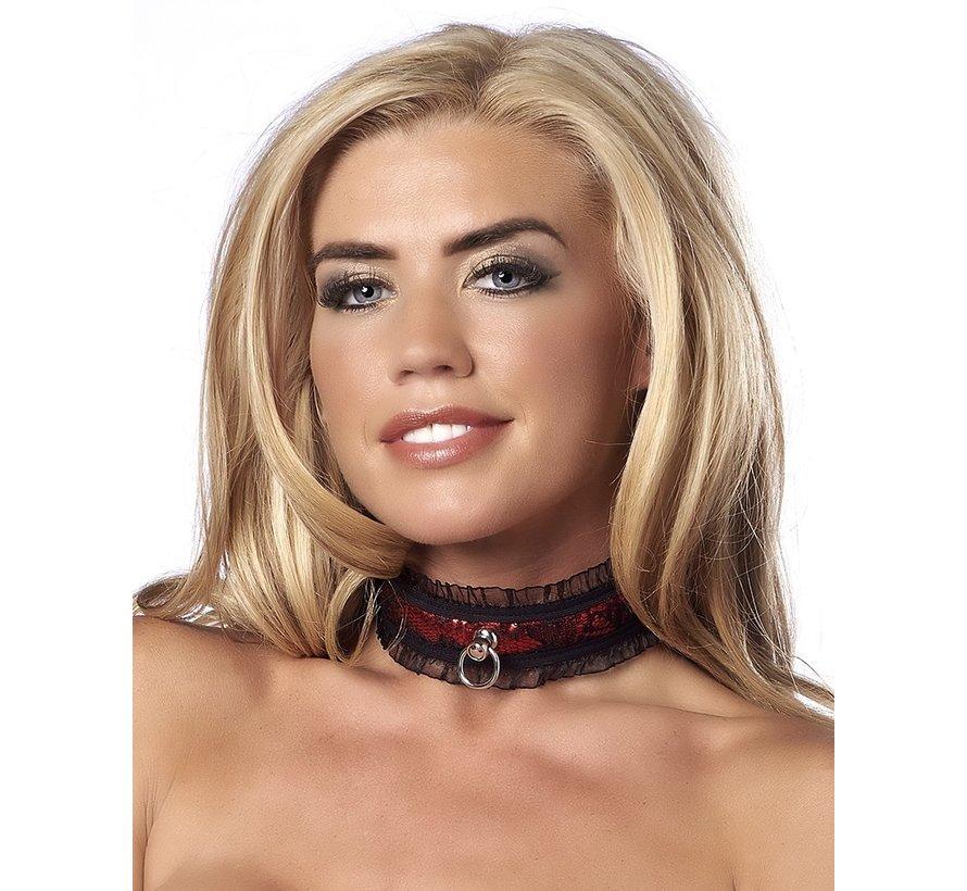 Rimba - Halsband Satin Look Collar Rood