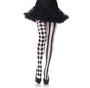 Leg Avenue Panty met Harlekijn print - zwart/wit