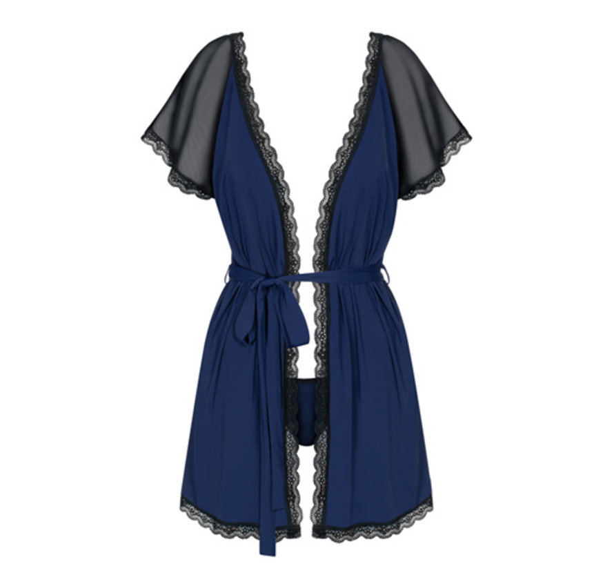 Kimono Met Kant En Lage Rug