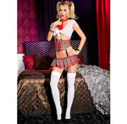 Music Legs 4-Delig Sexy Schoolmeisje Kostuum
