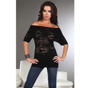 Livia Corsetti Fashion Orsola Shirt met Lange Mouwen - Zwart