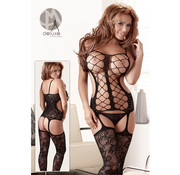 Mandy mystery Line One-piece suspender illusion
