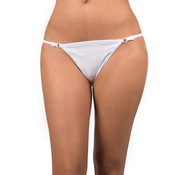 Sexy Kleding White thong with silver details