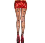 Music Legs Pantyhose with backseam and bows