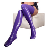 The Latex Collection Latex Stockings purple