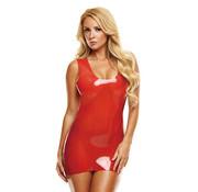 Latex Mini Dress - Red