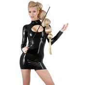 The Latex Collection Latex Mini Jurk Met Lange Mouwen