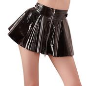 Black Level Vinyl Mini Skirt