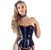 Black Level PVC Corset With Suspenders