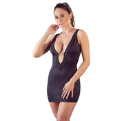 Cottelli Collection Mini Dress With Plunging Neckline