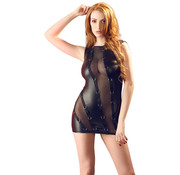 Cottelli Collection Wetlook Dress with Rings