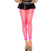Music Legs Lange Visnet Legging - Neon Roze