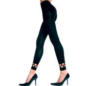 Music Legs Lange Legging Met Opengewerkte Onderkant - Zwart