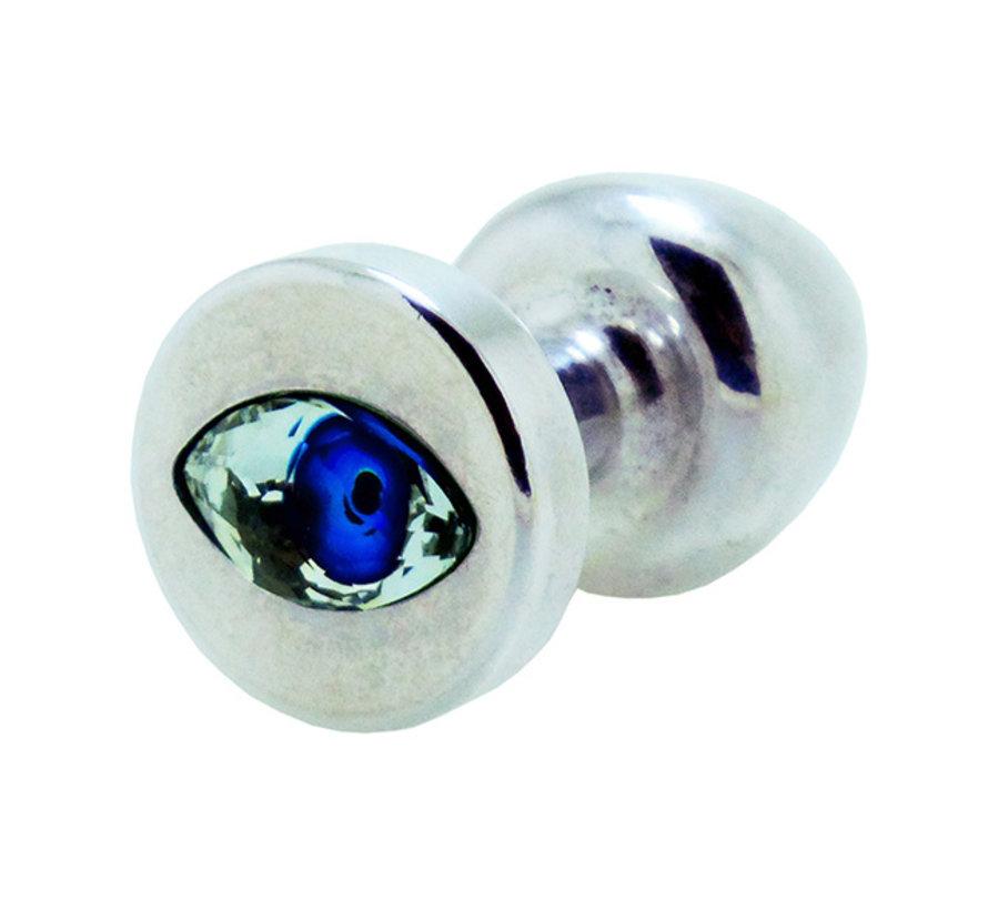 Diogol - Anni R Butt Plug Oog Zilver Crystal Zilver 30 mm