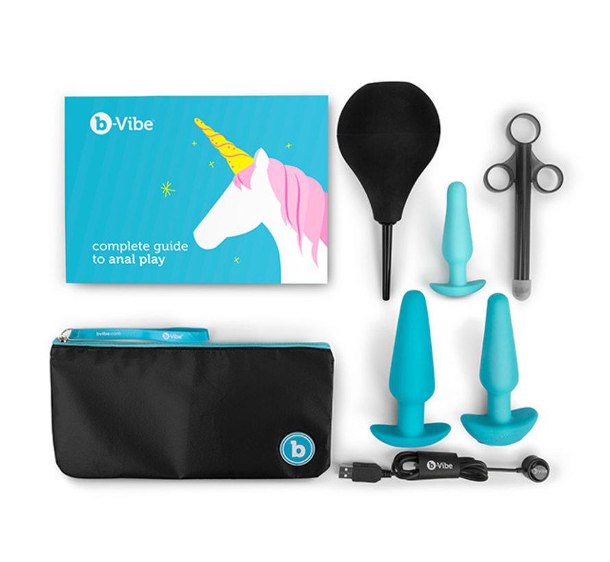 B-Vibe - Anaal Training & Educatie Set Blauw